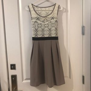 A'reve brand dress from Modcloth. Lace and mauve.